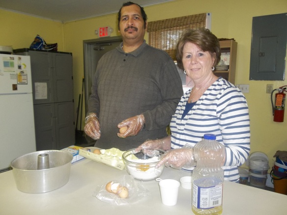 Hello! Zel and Maryann baking a cake with brown eggs. I hope it's good!!