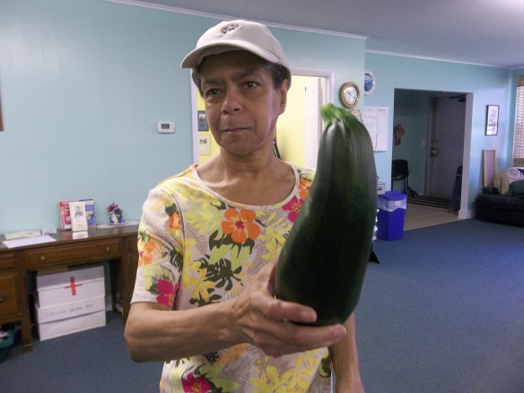 """Diane holding her new friend!""- Amy   Our gardens have really taken off this week!"