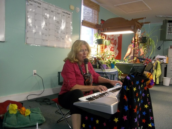 Thank you again June Bailey for serenading us while we had lunch!!