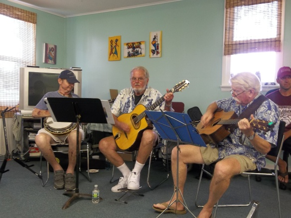 Chery's father-in-law and his friends came and played genuine bluegrass music for us - it was awesome!! Come back soon please!