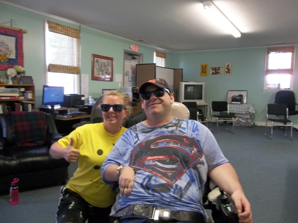 The Youthworks Crew leader and Matt in their matching shades - who's who??