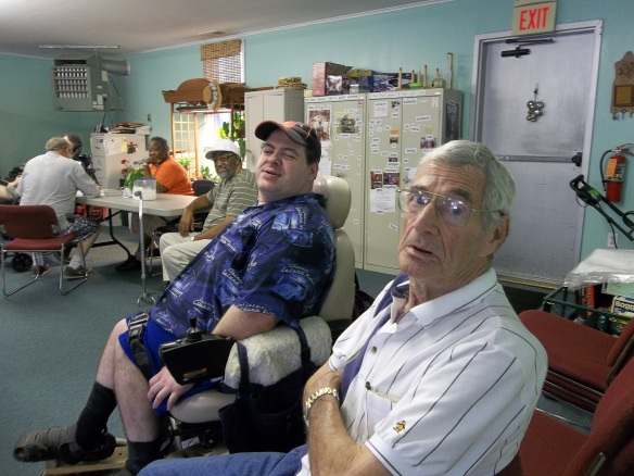 Mr. Parks came to see us, here he is with Matt. Still lookin' good, keep up the good work, come back again ya hear!