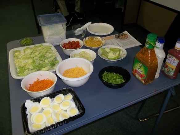 Our Health and Safety Salad! This month's Health and Safety Advocacy training was on healthy choices.