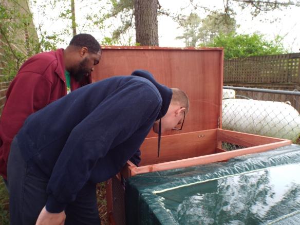 Brandon & Steve egg hunting...