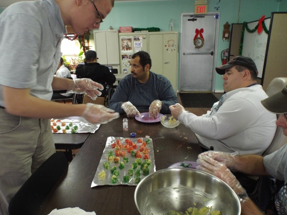 For Outreach Cooking this month we made Christmas cookies for our friends at G.F. Horne Assisted Living Community!