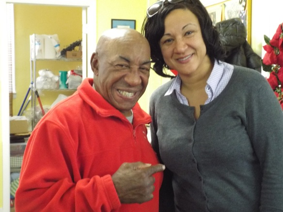 Grandmaster Elton Trower and his daughter Felicia, December 2014