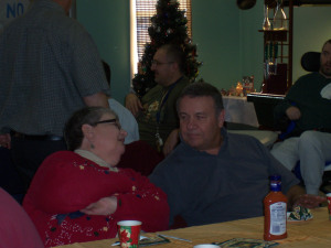 Jean and Barry at a No Limits holiday party.